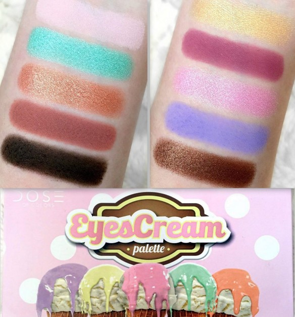dose of colors eyescream palette swatches