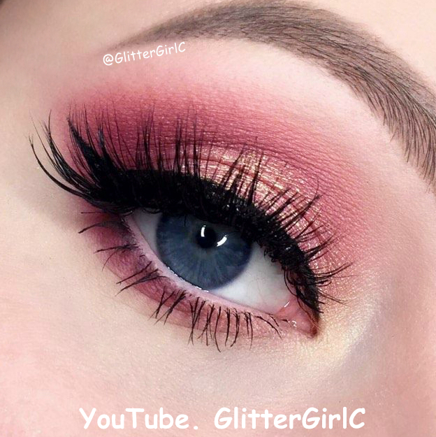 Huda Beauty Rose Gold Palette Look Glittergirlc