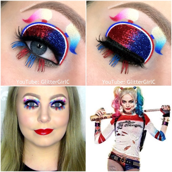 Harley Quinn Suicide Squad makeup