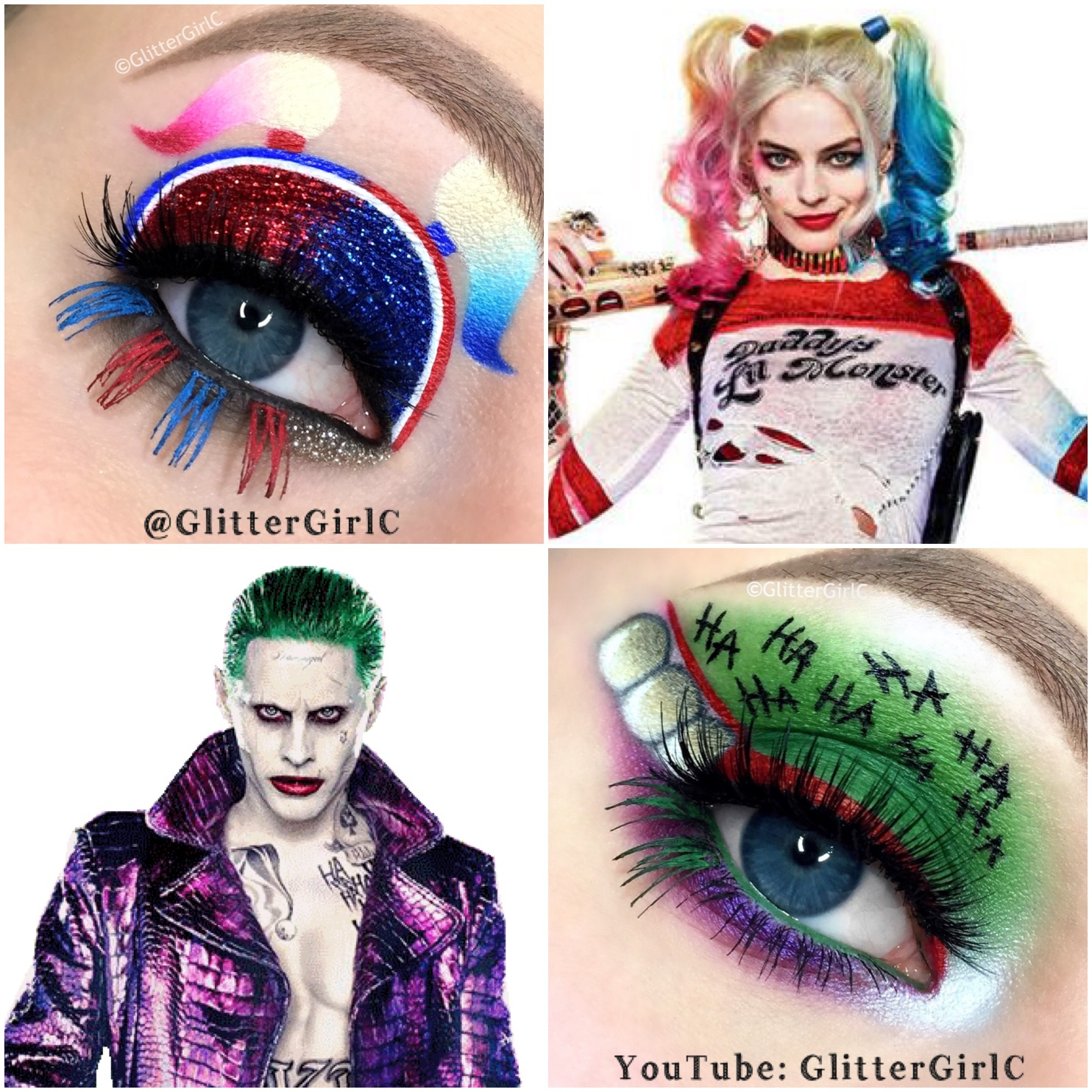The Joker and Harley Quinn makeup Suicide squad