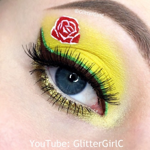 Belle Makeup look Beauty and the beast